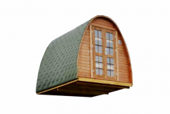Sauna Pod/Camping POD 2.4 m x 3 m - thermo wood