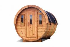 Sauna barrel 2.4 m Ø 1.97 m - thermo wood