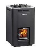 "Wood burning Stove  ""Harvia 36″ 31 kW  (inside firewood feeding)"