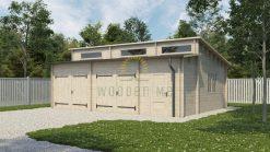 Double garage Favori 5.7 m x 7.7 m; (43.7 m²)