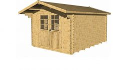 Garden shed PALOMA 3m x 3m; 34 mm