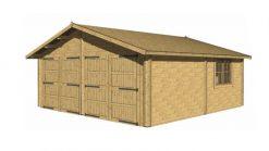 Double garage 6m x 6m; 44 mm