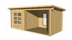 Garden shed ELVIS 5.6 m x 2.5 m, 34 mm