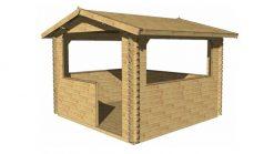 Wooden gazebo LOLA 3.2 m x 3.2 m; 34 mm