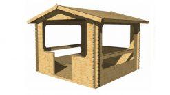 Wooden gazebo MARY 3m x 3m; 34 mm