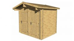 Garden shed TEDDY 2,6 m x 1,9 m; 34 mm