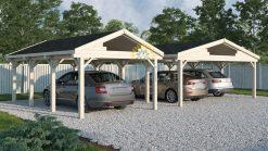 Wooden Carport Singuli 18 m2